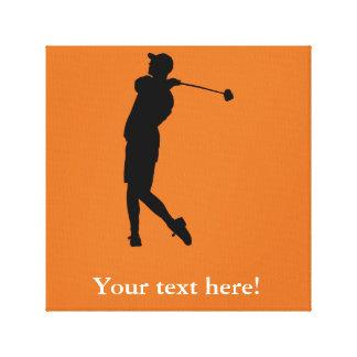 Impressão Em Canvas Jogador de golfe