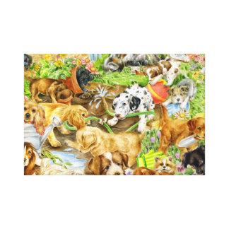 Impressão Em Canvas Jogo do filhote de cachorro
