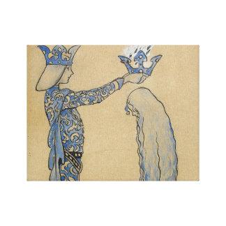 Impressão Em Canvas John Bauer - pnha então o príncipe uma coroa do