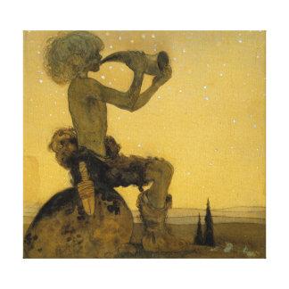 Impressão Em Canvas John Bauer que fundiu em cima do chifre