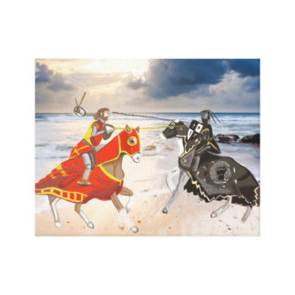 Impressão Em Canvas Joust medieval no litoral remodelado