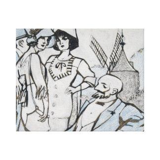 Impressão Em Canvas Juan Gris - DES auxiliar Longchamps dos cursos
