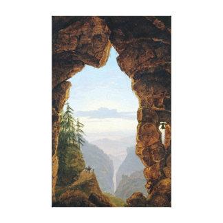 Impressão Em Canvas Karl Friedrich Schinkel a porta nas rochas