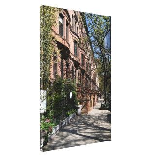 Impressão Em Canvas Lado oeste superior NYC dos Brownstones da Nova