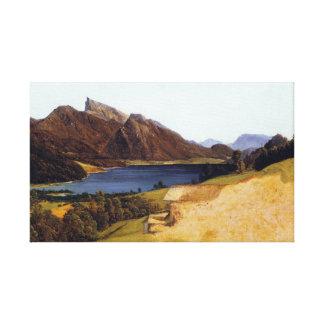 Impressão Em Canvas Lago Fuschel ferdinand Waldmüller com Schafberg