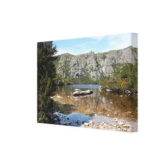 Impressão Em Canvas Lago mountain, Tasmânia, Austrália