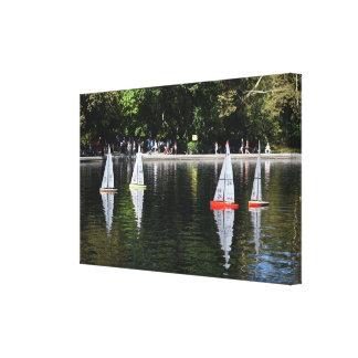 Impressão Em Canvas Lagoa conservadora New York do barco do Central