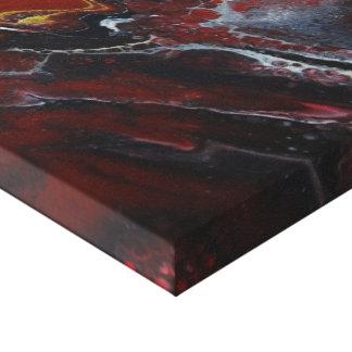 Impressão Em Canvas Lava vermelha