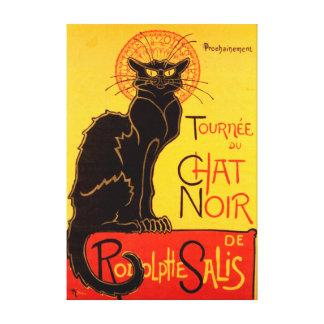 Impressão Em Canvas Le Conversa Noir o vintage de Nouveau da arte do