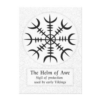 Impressão Em Canvas Leme do sinal mágico islandês do incrédulo -