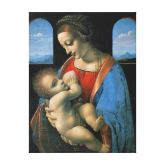 Impressão Em Canvas Leonardo da Vinci Madonna Litta