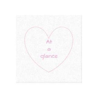Impressão Em Canvas Letras bonitos e bonitas do coração
