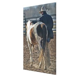 Impressão Em Canvas Ligação ocidental lindo do cavalo e do vaqueiro