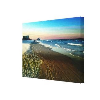 Impressão Em Canvas Linha costeira e passeio à beira mar de Daytona