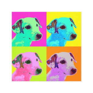 Impressão Em Canvas Linho. Cão, Terrier filhote. Espécie de pop