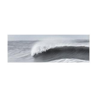 Impressão Em Canvas Linho - onda grande