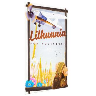 Impressão Em Canvas lithuania - para um poster de viagens da aventura