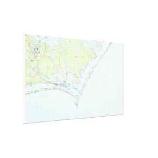 Impressão Em Canvas Litoral da vigia do cabo & mapa nacionais da