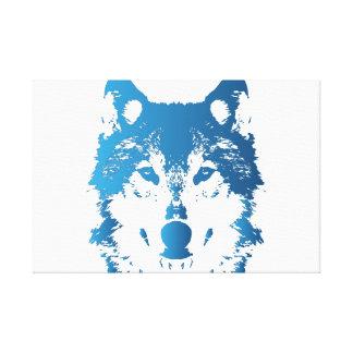 Impressão Em Canvas Lobo do azul de gelo da ilustração