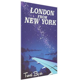Impressão Em Canvas Londres do poster do vôo do vintage de New York