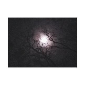 Impressão Em Canvas Lua no crepúsculo