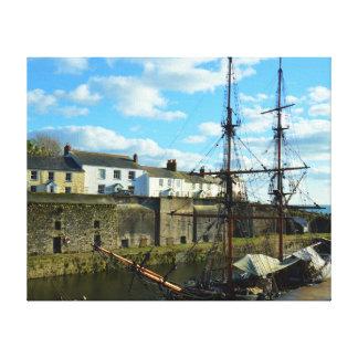 Impressão Em Canvas Lugar BRITÂNICO de Cornualha Poldark do porto de