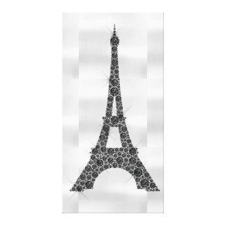 Impressão Em Canvas Luxo branco preto de Paris do francês da torre
