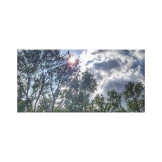 Impressão Em Canvas Luz do sol em um dia nebuloso