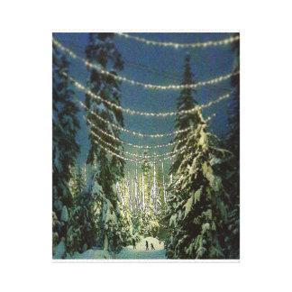Impressão Em Canvas Luzes do inverno