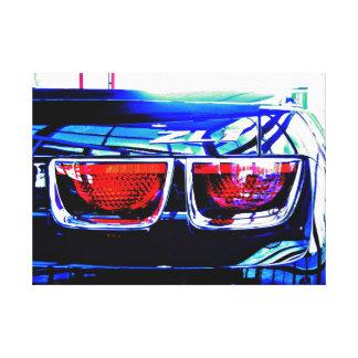 Impressão Em Canvas Luzes pretas da cauda de Camaro ZL1 - alteradas