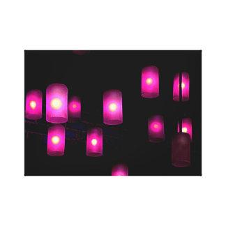 Impressão Em Canvas Luzes roxas