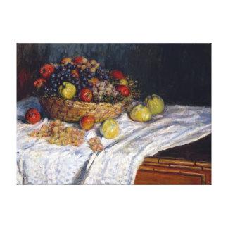 Impressão Em Canvas Maçãs e uvas de Claude Monet