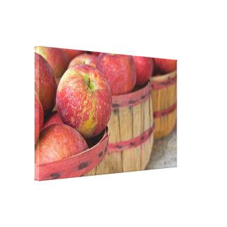 Impressão Em Canvas maçãs em cestas de alqueire