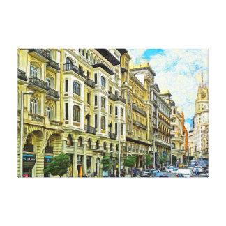 Impressão Em Canvas Madrid. Arquitetura de Gran Vía