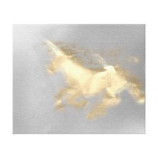 Impressão Em Canvas Mágica cinzenta 3D do Sepia Running do ouro do
