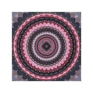 Impressão Em Canvas Mandala cinzenta cor-de-rosa