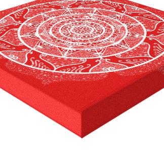 Impressão Em Canvas Mandala da cereja