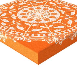 Impressão Em Canvas Mandala da papoila
