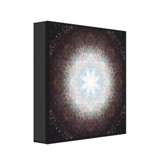Impressão Em Canvas Mandala de vidro quebrada
