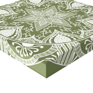 Impressão Em Canvas Mandala do musgo