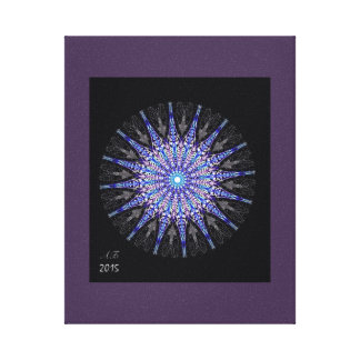 """Impressão Em Canvas Mandala """"gelo """""""