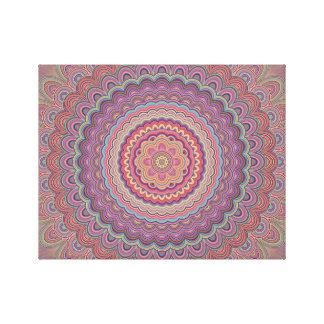 Impressão Em Canvas Mandala geométrica do Hippie