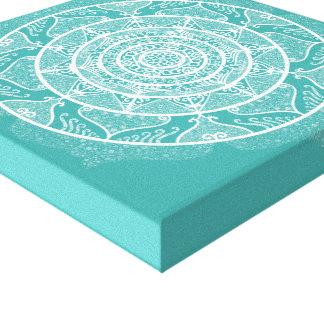 Impressão Em Canvas Mandala Spruce azul