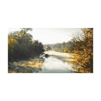 Impressão Em Canvas Manhã do rio