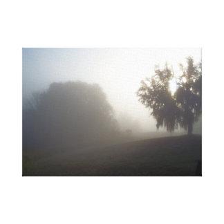Impressão Em Canvas manhã nevoenta adiantada imediatamente antes do
