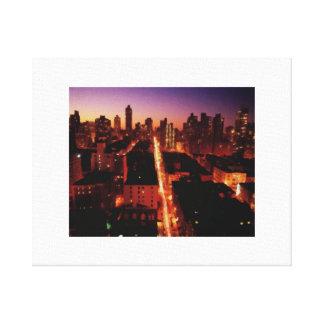 Impressão Em Canvas Manhattan em a noite
