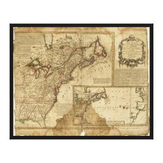 Impressão Em Canvas Mapa de América adiantada (1780)