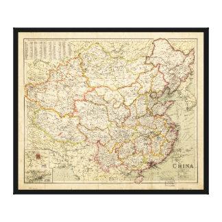 Impressão Em Canvas Mapa de China (cerca de 1900)
