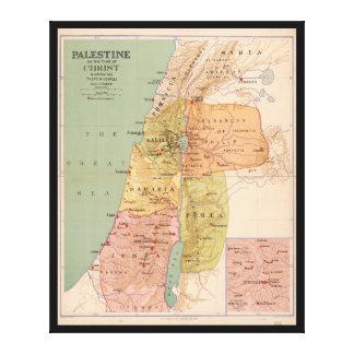 Impressão Em Canvas Mapa de Palestina a tempo do cristo (a 70 A.D.)