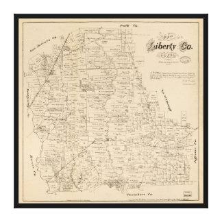 Impressão Em Canvas Mapa do Condado de Liberty, Texas (1879)